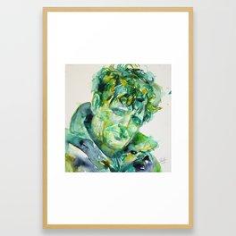 JACK LONDON - watercolor portrait Framed Art Print