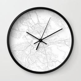 Stockholm, Sweden Minimalist Map Wall Clock