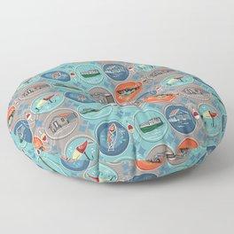Fish Town Michigan Floor Pillow