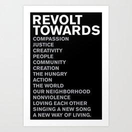 Revolt Towards (White) Art Print