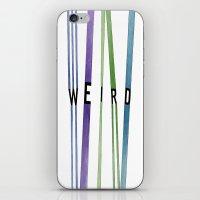 weird iPhone & iPod Skins featuring weird by Nikki Lamoureux