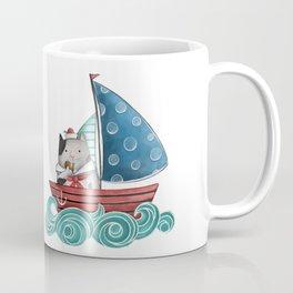 Sailor Cat Illustration Coffee Mug