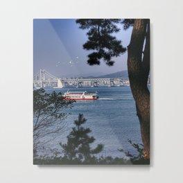 Summer ferry Metal Print