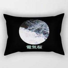 Electric Sakura Rectangular Pillow