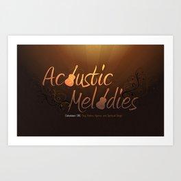 Acoustic Melodies Art Print