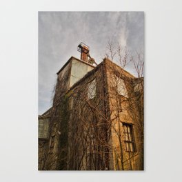 Abandoned Feed Mill - Backside Grunge Canvas Print