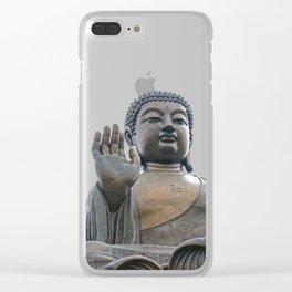 Buddhism - Tian Tan Buddha 144 - Hong Kong Clear iPhone Case