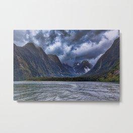 Milford Sound, South Island, New Zealand Metal Print