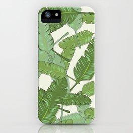 Banana Leaf Print iPhone Case