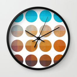 Tropical with circles Wall Clock