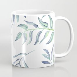 Floating Leaves Blue #society6 #buyart Coffee Mug