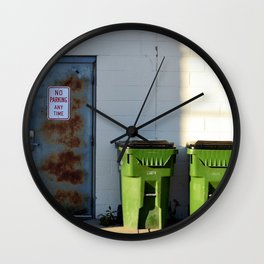 No Parking Any Time Wall Clock