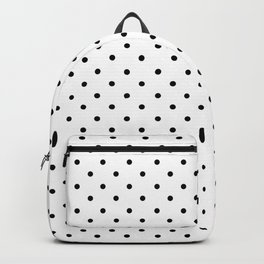 Minimal - Small black polka dots on white - Mix & Match with Simplicty of life Backpack