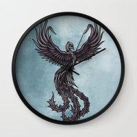 phoenix Wall Clocks featuring Phoenix by Texnotropio