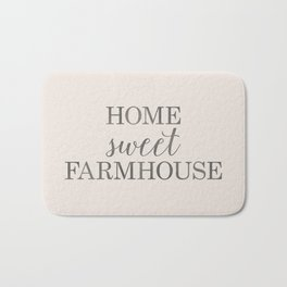 Home Sweet Farmhouse, Rustic Farmhouse Style Word Art, Home Sweet Home Bath Mat