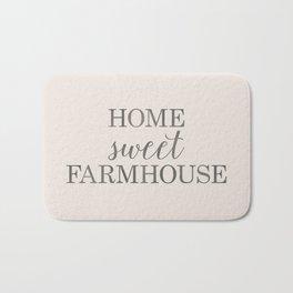 Home Sweet Farmhouse, Rustic Farmhouse Style Word Art, Home Sweet Home Bath Mat