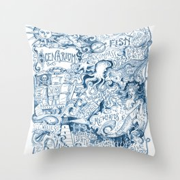 Ocenarium Throw Pillow