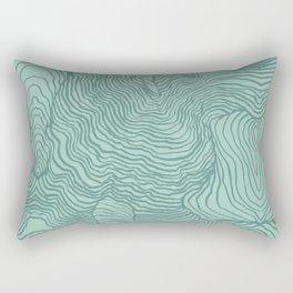 Perception in Mint Green Rectangular Pillow