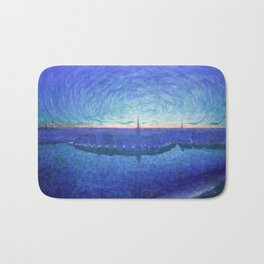 Jansson's Sunrise over Riddarfjärden Bath Mat