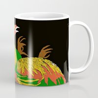 rooster Mugs featuring Rooster by Saundra Myles