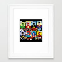 superheroes Framed Art Prints featuring Superheroes by Chicca Besso