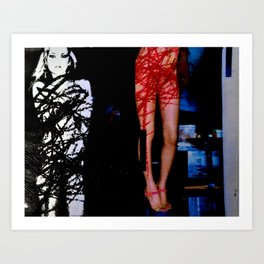 Defaced Kate Art Print