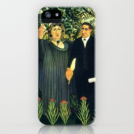 "Henri Rousseau ""The Muse Inspiring the Poet"" iPhone Case"