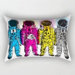 CMYK Spacemen Rectangular Pillow