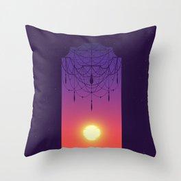 Drawing the Veil Throw Pillow