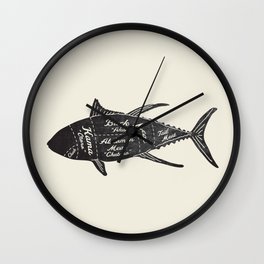 Tuna Butcher Diagram-Fish Wall Clock