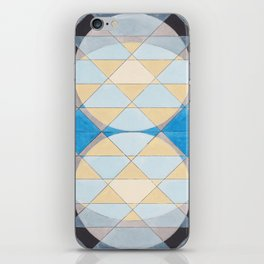 Triangle Pattern No. 14 Circles in Black, Blue and Yellow iPhone Skin