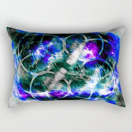Blue Aura Rectangular Pillow