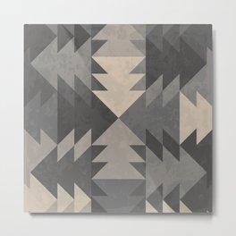 abstract triangle geometric pattern Metal Print