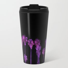 Purple Palm Trees - Palms Reflecting in Your Eyes Travel Mug