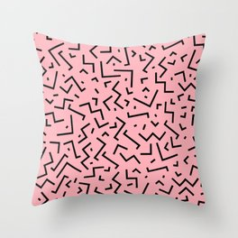 Memphis pattern 34 Throw Pillow