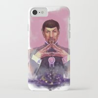 spock iPhone & iPod Cases featuring Spock by Tsuru