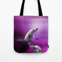 Delightful Dolphins Tote Bag
