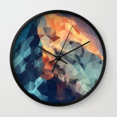 Mountain low poly Wall Clock