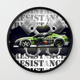 Sport car - Drift Wall Clock
