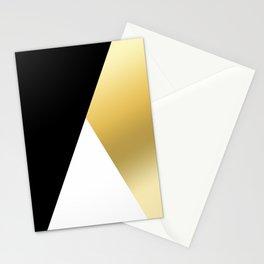 Elegant gold and black geometric design Stationery Cards