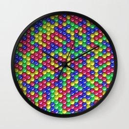 Pattern of coloreful spheres Wall Clock