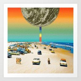 Rainbow beach Art Print