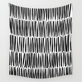 Inspired by Nature | Black & White Organic Line Texture Elegant Minimal Simple Wall Tapestry