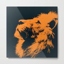 Lion, King of Nature Metal Print