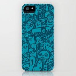 Blue Doodle iPhone Case