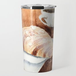 Croissant and Coffee Travel Mug