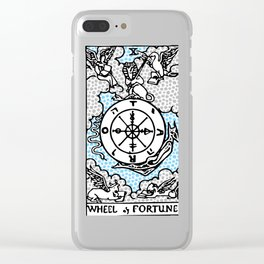 Modern Tarot Design - 10 Wheel of Fortune Clear iPhone Case
