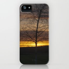 Sunset at the end of town iPhone Case
