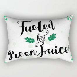 Fueled by Green Juice Rectangular Pillow