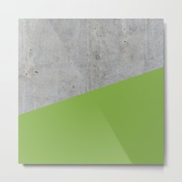 Concrete and greenery color Metal Print